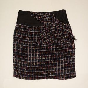 ANTHROPOLOGIE Black Pink Skirt Size 6 New!